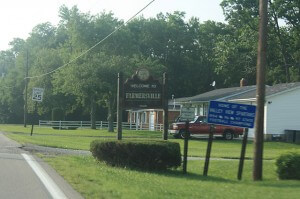 Welcome to Farmersville sign