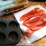 Cook the bacon until it is just starting to crisp, but is still bendy.