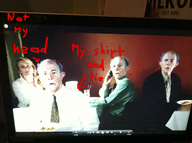 That's not my real head. But it is my real shirt and tie.